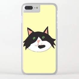 Happy Cat Clear iPhone Case