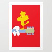 woodstock Art Prints featuring Woodstock by Phil Jones