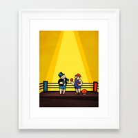 video games Framed Art Prints featuring Board Games Versus Video Games by Maestro Marko