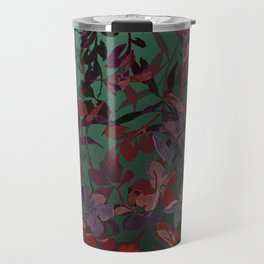 Watercolor Spring Flowers Cascading in Green Travel Mug