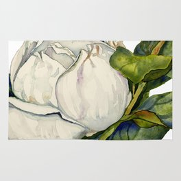 Magnolia with Leaves Rug