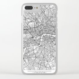 London Map White Clear iPhone Case