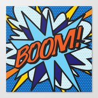 comic book Canvas Prints featuring Comic Book BOOM! by The Image Zone