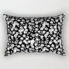 Black Bougainvillea Rectangular Pillow