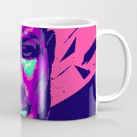 ronaldo Mugs featuring Christiano Ronaldo : FOOTBALL ILLUSTRATIONS by mergedvisible