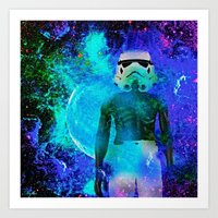 stormtrooper Art Prints featuring Stormtrooper   by Saundra Myles