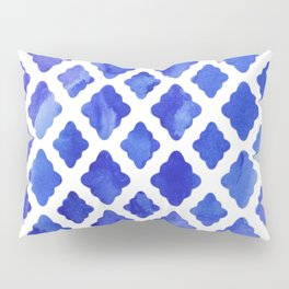 Watercolor Diamonds in Cobalt Blue Pillow Sham