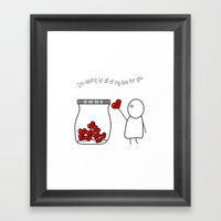I'm Saving Up All My Love For You! Framed Art Print