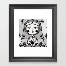 Matryoshka russian doll colorful illustration wall decor - Ira Framed Art Print