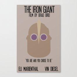 Iron Giant Minimalist Movie Poster Canvas Print