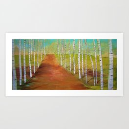 Quirky Birch Art Print