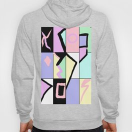 80s Pastel Colorblock retro abstract sweater Hoody
