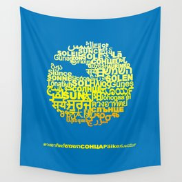 Sun in Different Languages Wall Tapestry