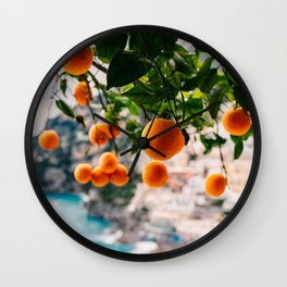 Amalfi Coast Oranges Wall Clock