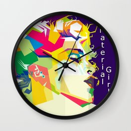 Madonna Pop Art WPAP Wall Clock