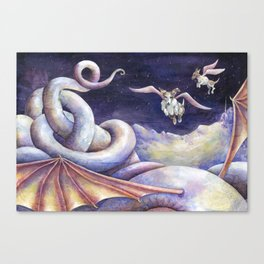 The Dragon's Downfall Canvas Print