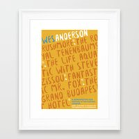 wes anderson Framed Art Prints featuring Wes Anderson - Fantastic Mr. Fox by Laura Mace Design