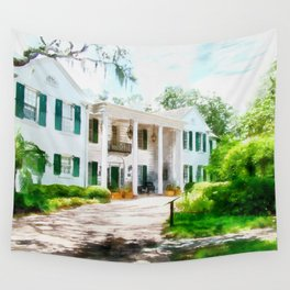 White Palm House Wall Tapestry