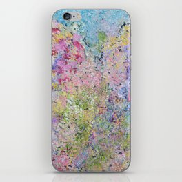 Spring Hydrangeas, Pastel Abstract, Modern Painting iPhone Skin