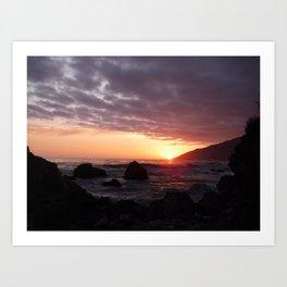 Beauty of the setting sun Art Print