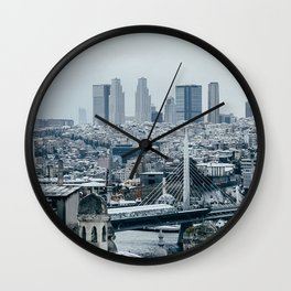 city buildings aerial view architecture istanbul turkey Wall Clock