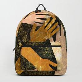 Grunge Community of Hands Backpack