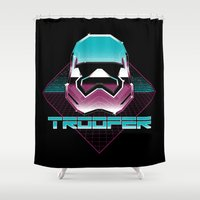 trooper Shower Curtains featuring TROOPER by MEKAZOO