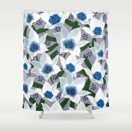 Blue Jean Baby Shower Curtain