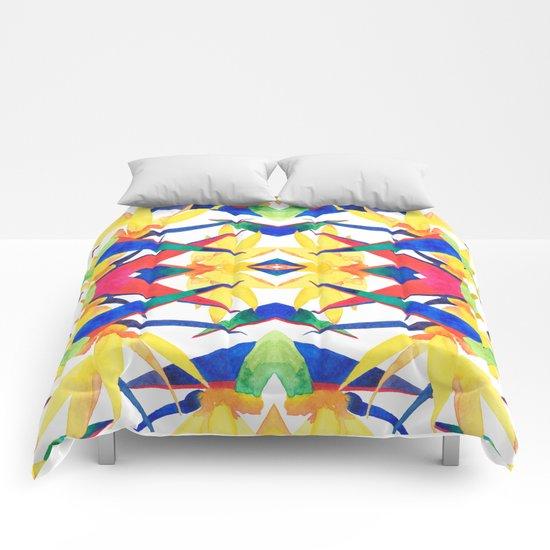 Bird Of Paradise Flash Comforters