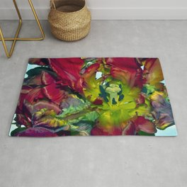 Still life with Red Tulips Rug