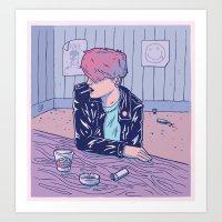 bar Art Prints featuring Bar by - OP -