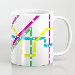 Chicago 'L' Train Map Coffee Mug