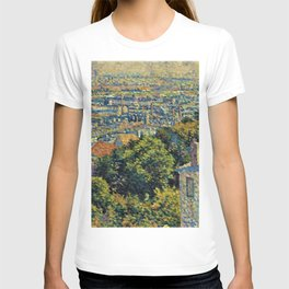 Classical Masterpiece 1900 'Paris - Montmartre' by Maximilien Luce T-shirt