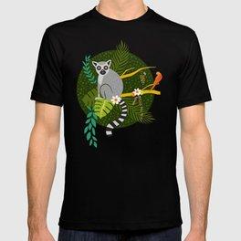 Lemurs in a Green Jungle T-shirt