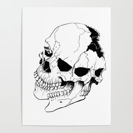 Skull (Fragmented and Conjoined) Poster