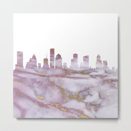 Houston Skyline Texas Metal Print