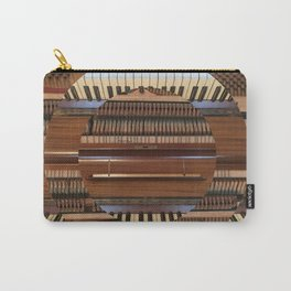 Abstract Upright Piano - Music, Classical, Geometric, Piano Keys, Music Notes Carry-All Pouch