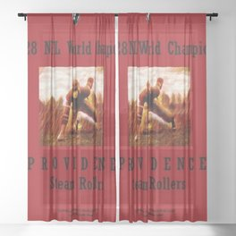 1928 American Football World Champions Providence Steam Rollers Sheer Curtain