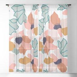 Carmella #illustration #pattern Sheer Curtain