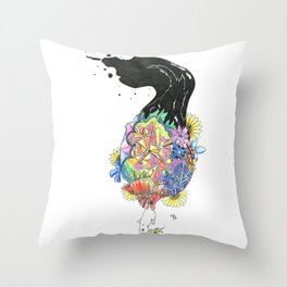 Squirrel painting painting Throw Pillow