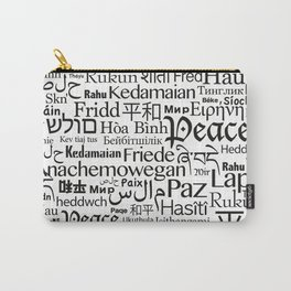 IMAGINE PEACE...  Say peace in 47 languages... Carry-All Pouch