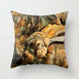 Splitting Hares Throw Pillow