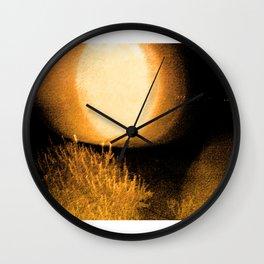 Dark Night Amber Wall Clock