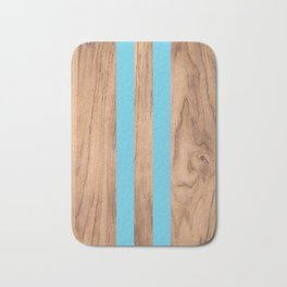 Wood Grain Stripes Light Blue #807 Bath Mat
