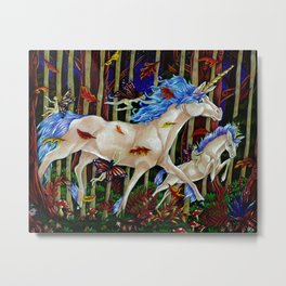 A Romp in the Autumn Dusk Metal Print