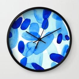 Beach Glass Blue Wall Clock