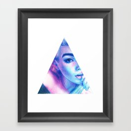 Technicolor Triangle Sh*t Framed Art Print