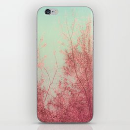 Harmony (Mint Blue Sky, Coral Pink Plants) iPhone Skin