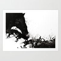 horses Art Prints featuring Horses by miguel ministro