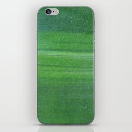 Abstract modern lime forest green stripes pattern iPhone Skin